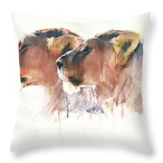 Sisters, Etosha Throw Pillow
