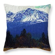 Sisters Oregon Ranch Throw Pillow