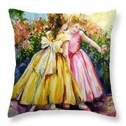 Sisters Secrets Throw Pillow