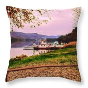 Sisters Ville Ferry Throw Pillow