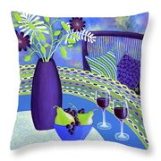Sit A While Throw Pillow