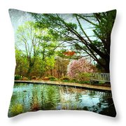 Sit And Ponder - Deep Cut Gardens Throw Pillow