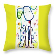 Sit, Stay, Good Dog Throw Pillow