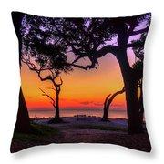 Sit With Me Driftwood Beach Sunrise Jekyll Island Georgia Throw Pillow