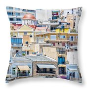 Sitia Town Throw Pillow