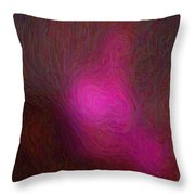 Siting In Darkness Throw Pillow