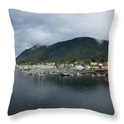 Sitka Alaska From The John O'connell Bridge Is A Cable-stayed Bridge 2015 Throw Pillow