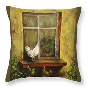Sittin Chickens Throw Pillow
