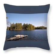 Sittin' On The Dock Throw Pillow