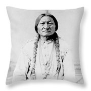 Sitting Bull, A Hunkpapa Lakota Tribal Throw Pillow