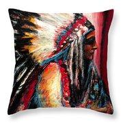Sitting Bull Throw Pillow