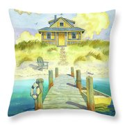 Sitting By The Dock Throw Pillow