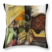 Sitting Figure II Throw Pillow
