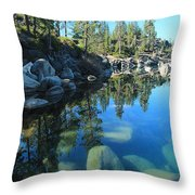 Sitting In Awe Of Her Surroundings Throw Pillow