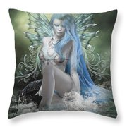 Sitting In Silence Throw Pillow