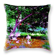 Sitting In The Shade Throw Pillow