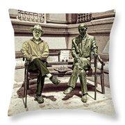 Sitting Next To A Statue Of Jan Karski Legendary Polish Underground Courier    Throw Pillow