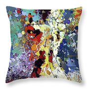 Sitting Nu Abstract Throw Pillow