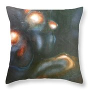 Sitting Nude V Throw Pillow