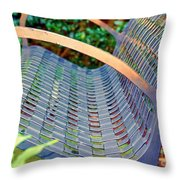 Sitting On A Park Bench Throw Pillow