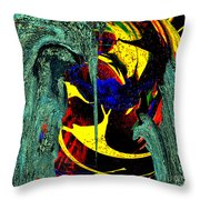 Sitting On The Edge Throw Pillow