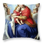 Sitting On The Moon Throw Pillow