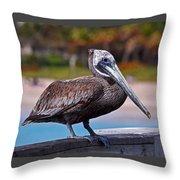 Sitting On The Pier Throw Pillow