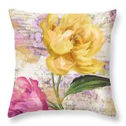 Sitting Pretty Peonies Throw Pillow
