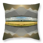 Sitting Silently Throw Pillow