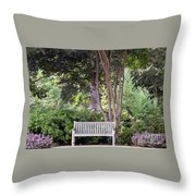 Sitting Under The Tree Throw Pillow