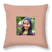 Siva's One And Only Baby Nisha Throw Pillow