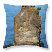 Siwash Rock By Stanley Park Throw Pillow