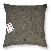 Discarded Hearts Throw Pillow