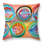 Six American Icons Throw Pillow