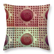 Six Panel Dot And Cube Landscape Throw Pillow