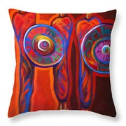 Six Feathers Throw Pillow