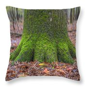Six Green Fingers Throw Pillow