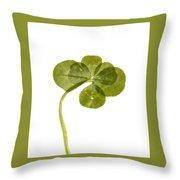 Six Leaf Clover 1 Throw Pillow