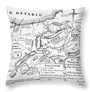 Six Nations Map 1771 Throw Pillow