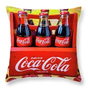 Six Pack Of Cokes Throw Pillow