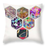 Six Paintings  Throw Pillow