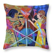 Six Phases Of The Eclipse Of The Heart Throw Pillow