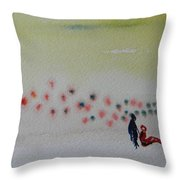 Six Seasons Dance Four Throw Pillow