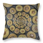 Six Shooter Cylinder Loaded Droste 1 Throw Pillow