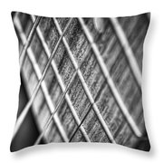 Six Strings Throw Pillow by Scott Norris