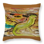 Sixth Grade Iguana Throw Pillow