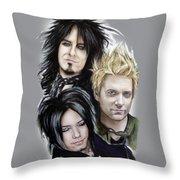 Sixx A.m. Throw Pillow