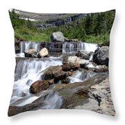 Siyeh Bend Going-to-the-sun Glacier National Park-5 Throw Pillow