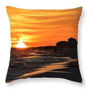 Sizzling Sunset Throw Pillow