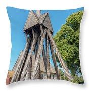 Sjosas Old Church Throw Pillow